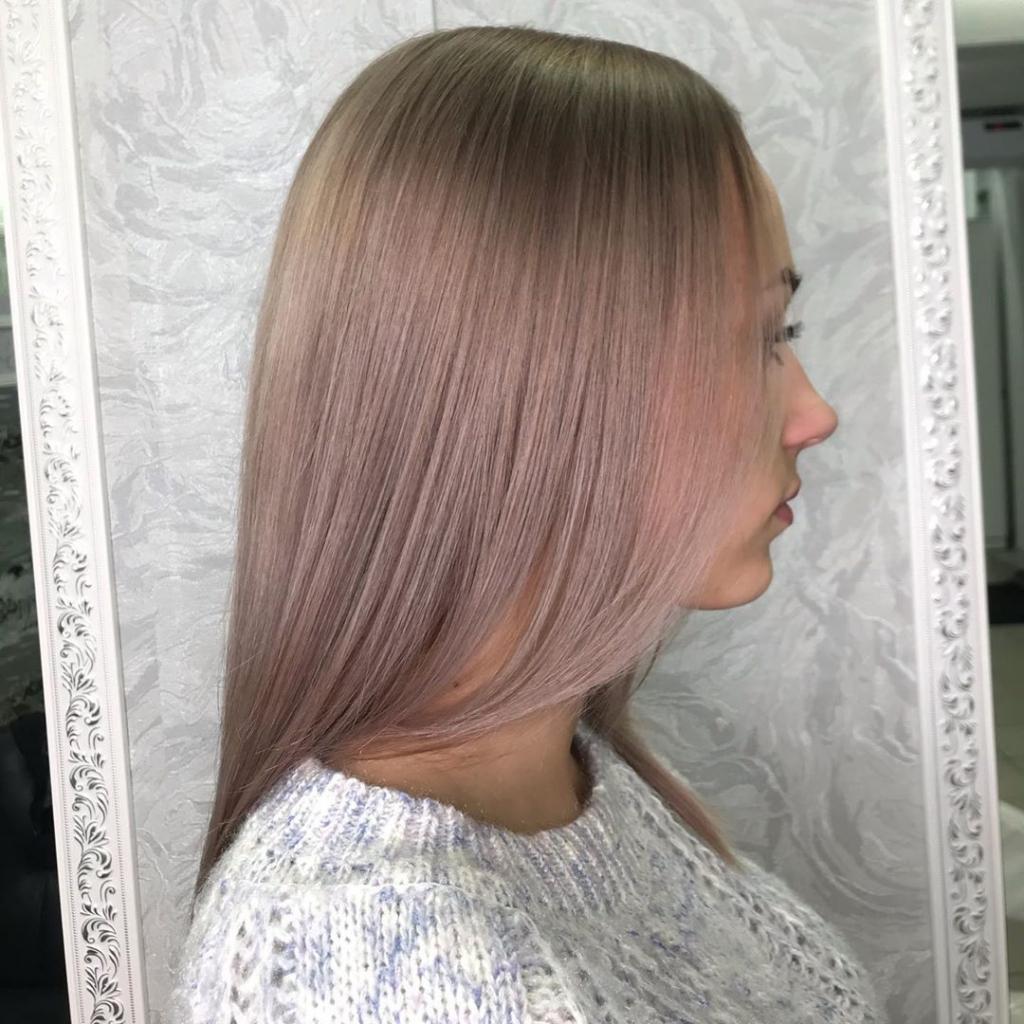 Как делается колорирование на светлые длинные волосы